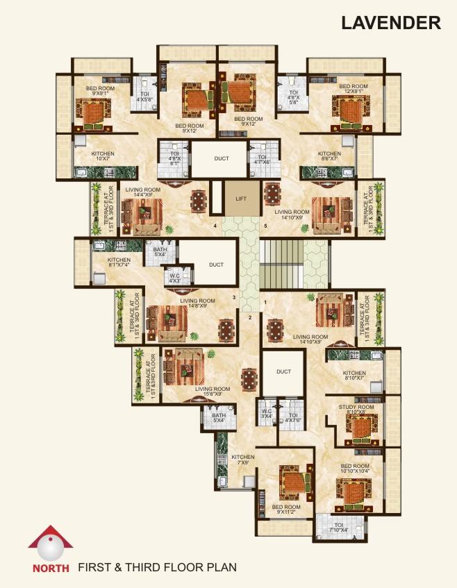 Lavender (1st & 3rd Floor)