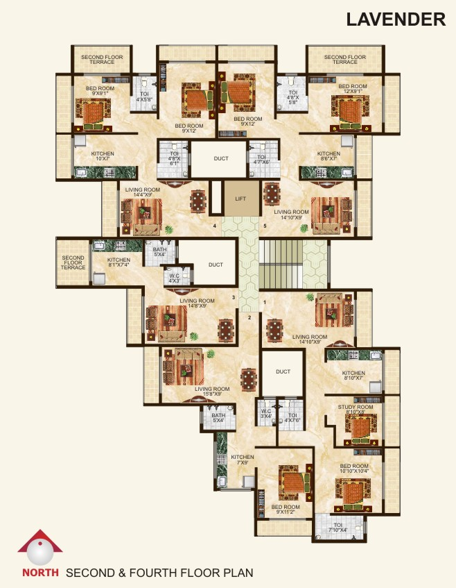 Lavender (2nd & 4th Floor)